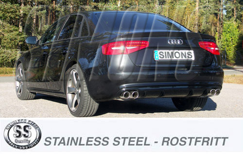 Stainless exhaust system Audi A5