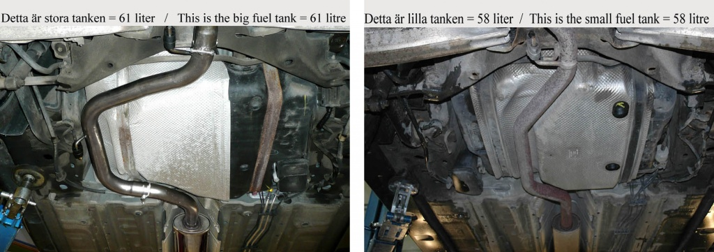 Fuel tanks Saab 9-3