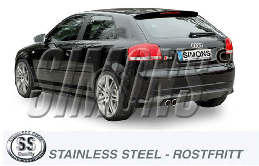 Sports exhaust Audi S3